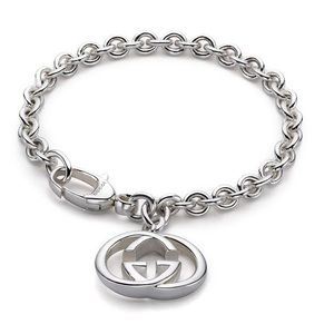 🆕 Gucci Sterling Silver Double G Charm Bracelet